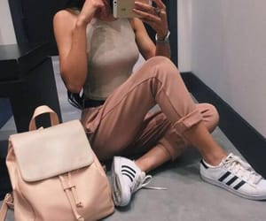 adidas, denim, and outfit image