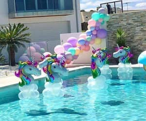 decorations, party, and pool image