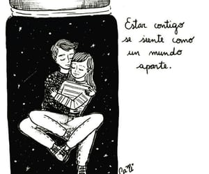 love, couple, and frases image