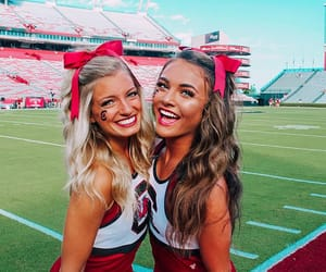 cheerleader, college, and girl image