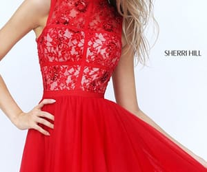 homecoming gowns, prom dresses red, and 2017 sherri hill image