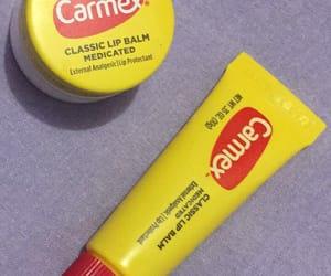 carmex, lipstick, and picture image