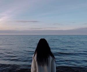 girl, ocean, and sea image