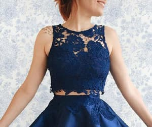 homecoming dress blue, dark blue prom dresses, and prom dresses two piece image