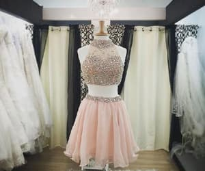 pink prom dresses, prom dresses two piece, and sexy prom dresses image