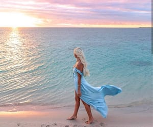 beach, dreamy, and style image