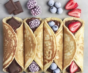 chocolate, crepes, and fruit image
