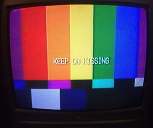 tv, kiss, and rainbow image