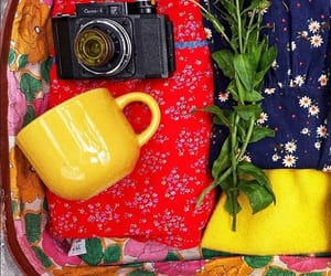 colorfull, yellow, and vintage image