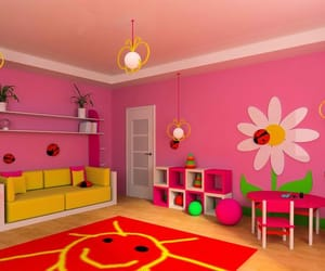pink, toys, and room design image