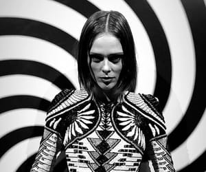 black and white, Coco Rocha, and model image
