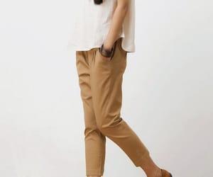 etsy, khaki pants, and cotton pants image