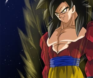 goku, dbz, and ssj4 image