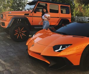 kylie jenner, car, and orange image