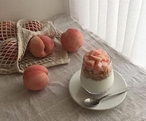 peach, food, and aesthetic image