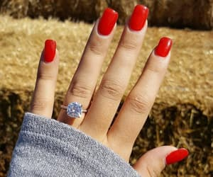 ring, red, and nails image