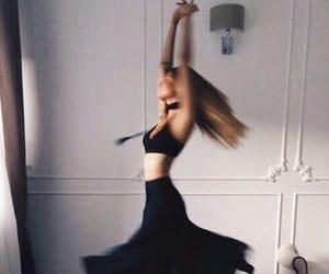 dance, girl, and black image