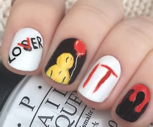Halloween, it, and nail art image