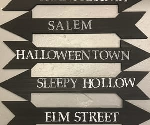 sign, autumn, and fall image