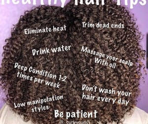 curly, hair, and healthy image