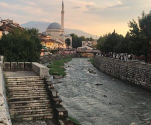 city, mosque, and colors image