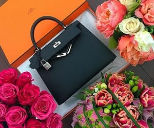 bag, rose, and black image