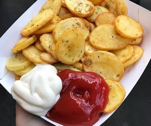 food, chips, and dinner image