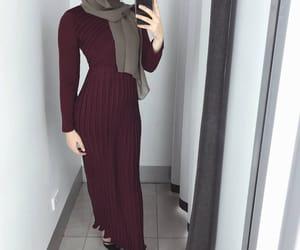 dress, hijabista, and fashion image