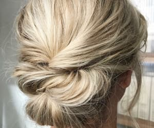 blonde, hair, and updo image