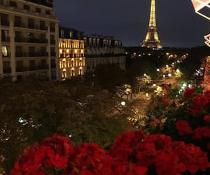 night, paris, and tour eiffel image