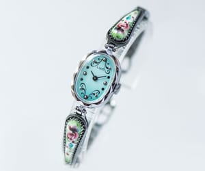 etsy, blue face watch, and filigree watch image