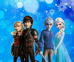 astrid, hiccup, and frozen image