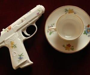 gun, tea, and flowers image