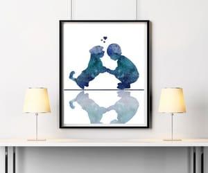 blue, dog, and modern home decor image