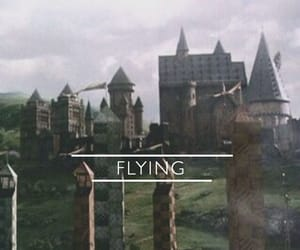 Flying and harry potter image