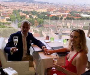 Barcelona, city, and champagne image