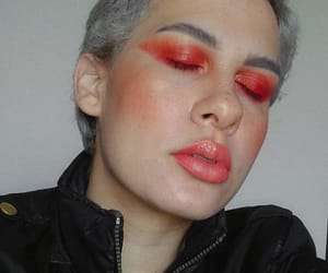 dark makeup, eyeshadow, and glow image