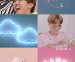 pink and blue, sope, and min yoongi image