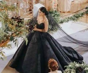 black, dress, and wedding image