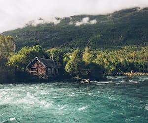 house, lake, and nature image