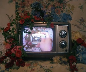 tv, vintage, and theme image
