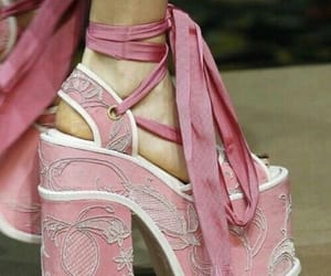heels, pink, and pink shoes image