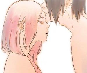 sakura, sasuke, and sasusaku image