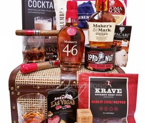 cigars, gift baskets in las vegas, and bourbon gift basket image