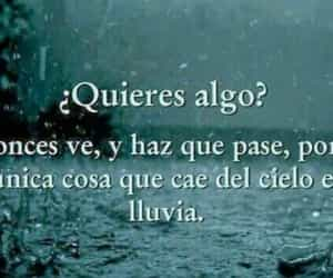frases, lluvia, and cielo image