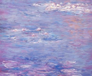 aesthetic, lilac, and painting image