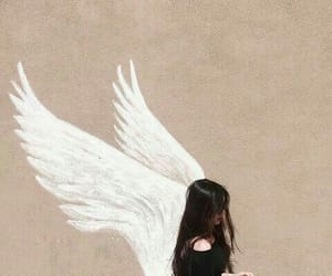 girl, angel, and beauty image