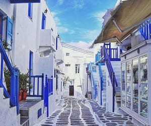 beauty, purpel, and mykonos image