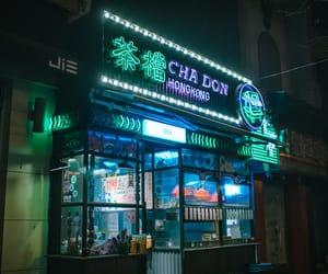 light, neon, and china image