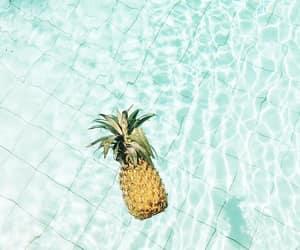 beach, fruit, and sea image
